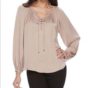 Jennifer Lopez lace up blouse